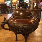 古い香炉 銅製