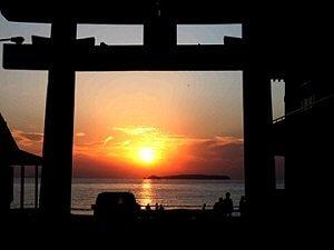 宮地嶽の夕日