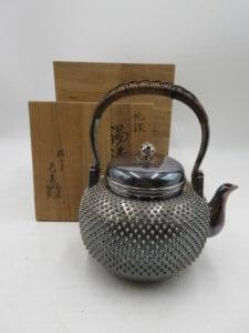 銀の湯沸・茶道具